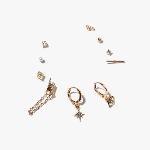 Set aretes earcuffs rayo