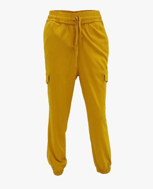 Pantalón jogger para dama mostaza