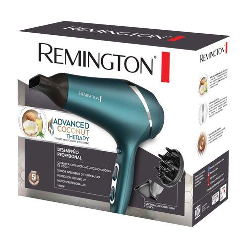 Secador Profesional Remington con Microacondicionadores de Aceite de Coco y Filtro UV