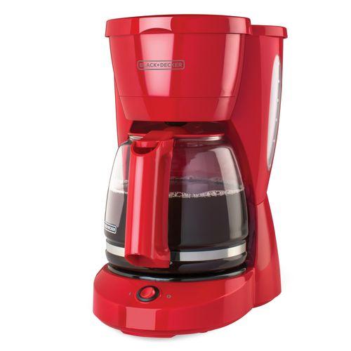 Cafetera de 12 tazas roja