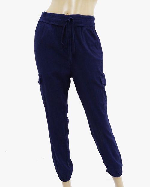 Pantalón jogger para dama navy