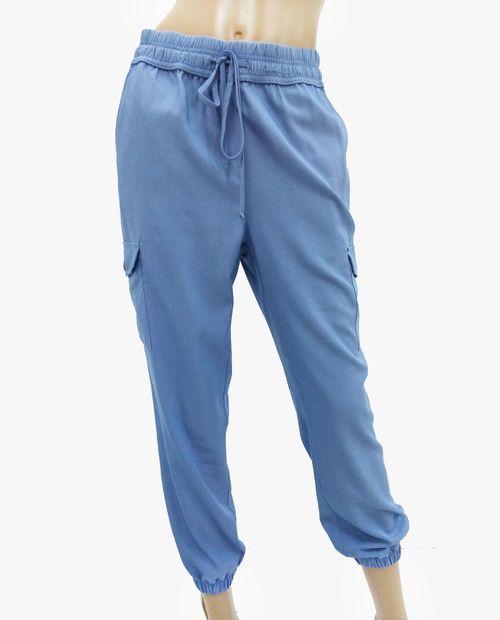 Pantalón jogger para dama denim claro