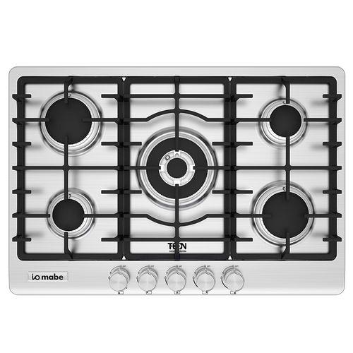 Cocina de gas empotrable 76cm acero iomabe