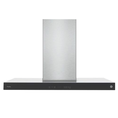 Campana 90cm panel touch isla ge profile
