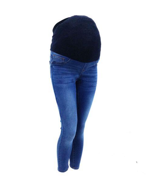 Jeans med blue cintura alta skinny