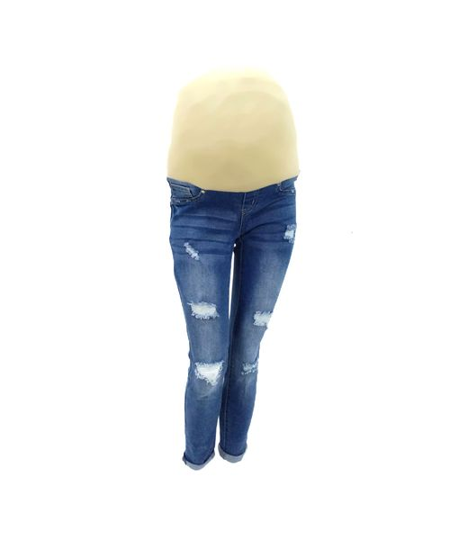 Jeans med blue cintura alta
