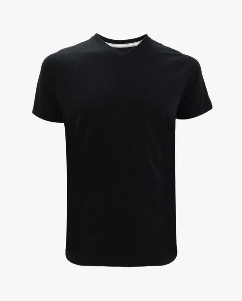 Camiseta v neck negro