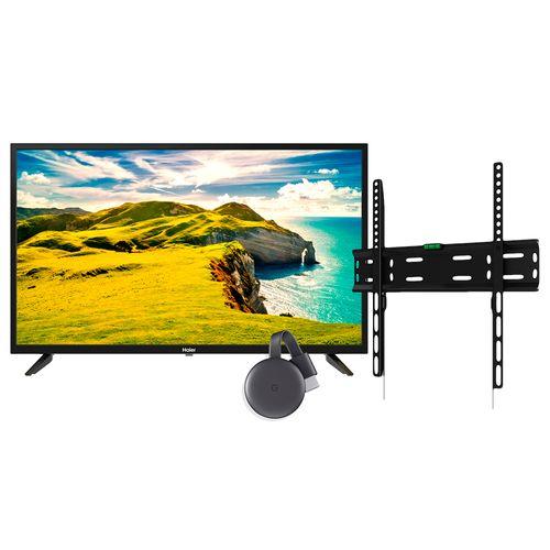 "Pantalla led smart 42"" hd  chromecast + rack"