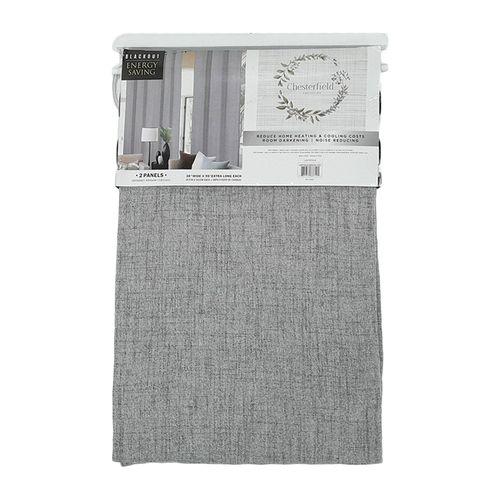 Cortina 2pnl room darkening grommet chesterfield 2x38x84 gris