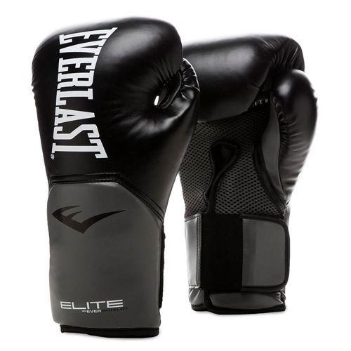 Guante para boxeo everlast proelite 16 onzas negro con gris