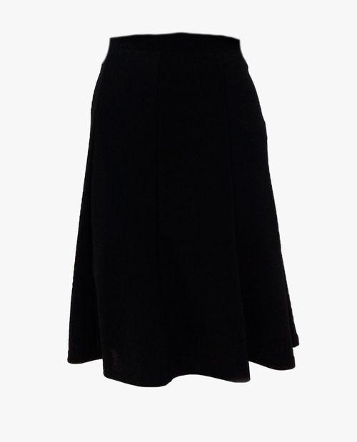 Falda con paletones color negra