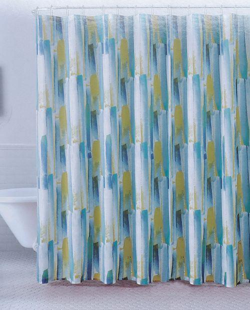 Cortina de ducha brush stroke aqua 13pc 70x72