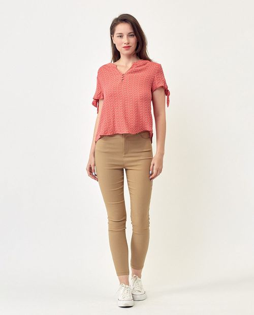 High rise taupe  pant