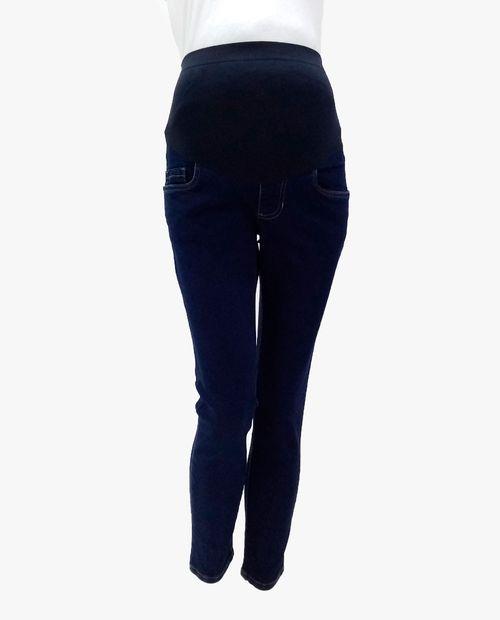 Jeans skinny con cierres en bolsas azul oscuro