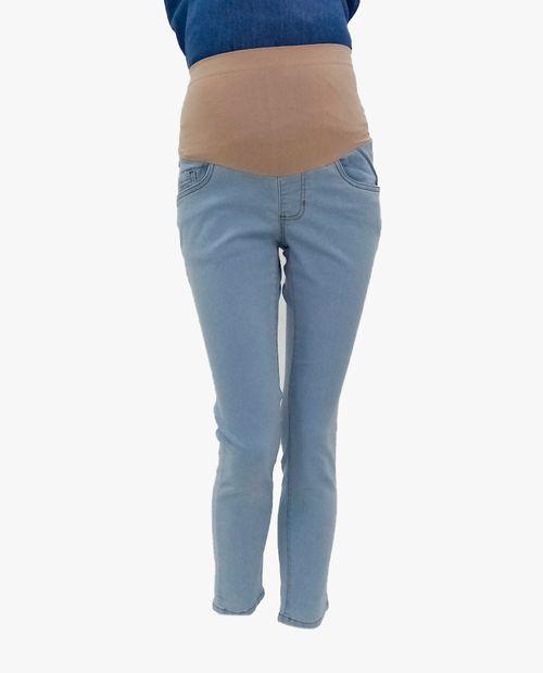 Jeans skinny con cierres en bolsas azul claro