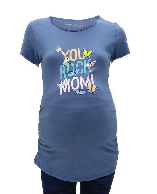 Camiseta cuello redondo print  you rock