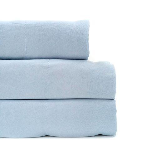 Sábana sólida microfibra maison zoé laundry 4pc azul queen