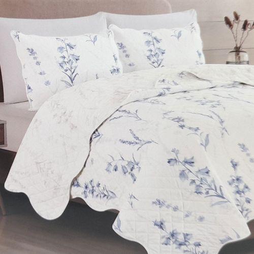 Cubrecama 2pc meadows blanco/azul twin