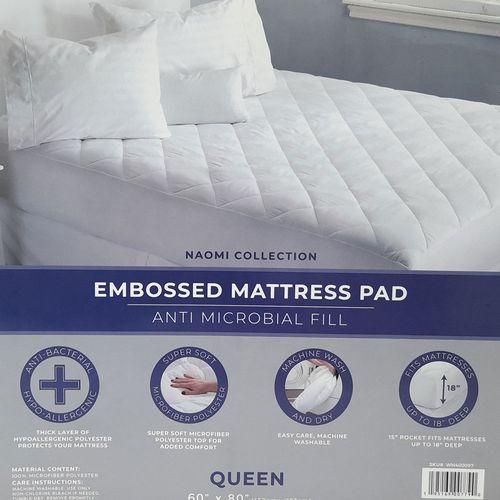 Mattress pad naomi blanco king