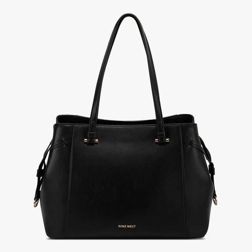 Cartera satchel nine west color negro para dama