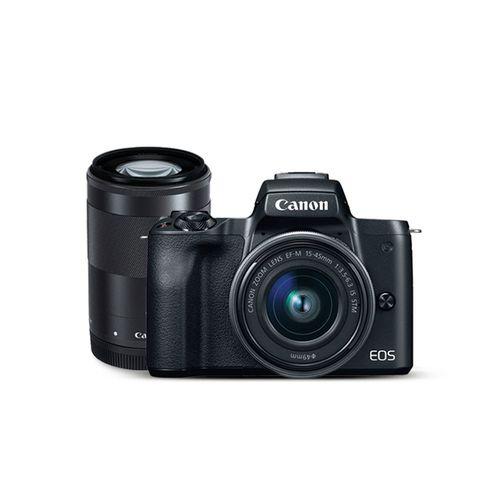 Cámara mirrorless m50 kit incluye de lentes ef-m 15-45mm y 55-200mm