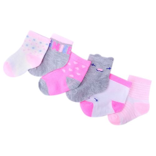 6 pack de calcetines de puntos para niña 0-9m