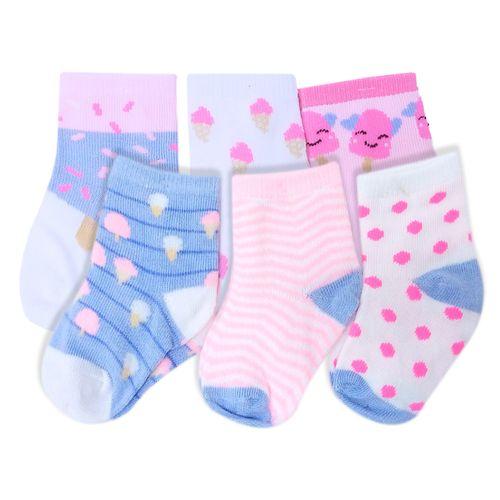 6 pack de calcetines de corazones para niña 0-9m