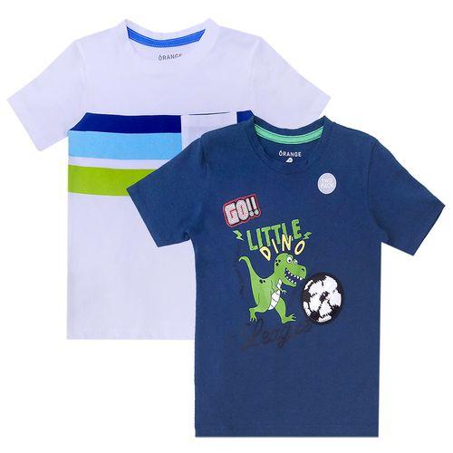 Camisetas toddler two pack little dinosaurio