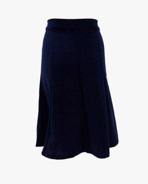 Falda con paletones color azul