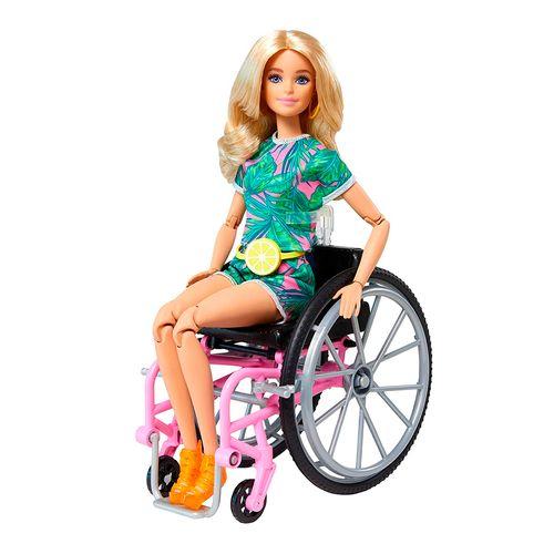 Barbie fashionista en silla de ruedas