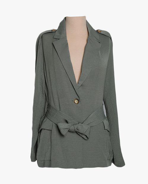 Abrigo sólido verde oscuro