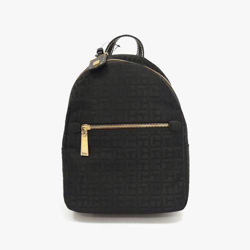 Cartera backpack color negro tonal