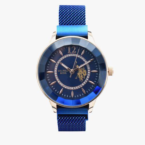 Reloj análogo metálico azul dama