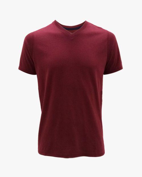 Camiseta v neck burgundy