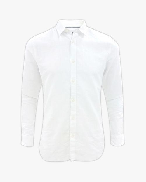 Camisa blanca manga larga para hombre