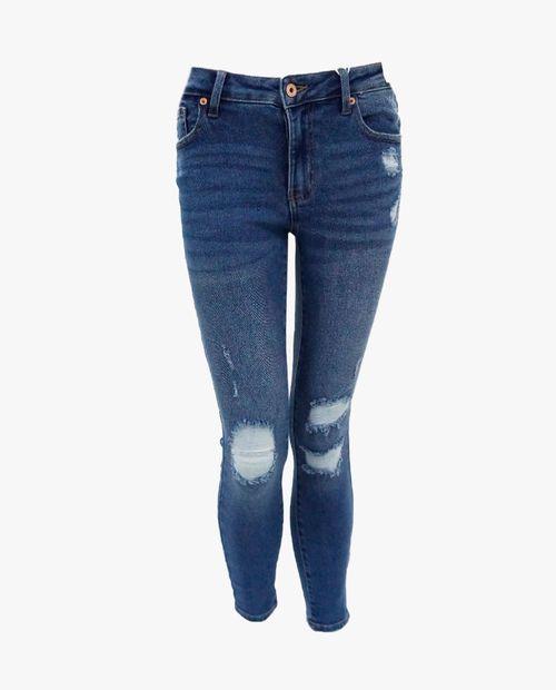 Denim curvy mid-rise ankle skinny jeans