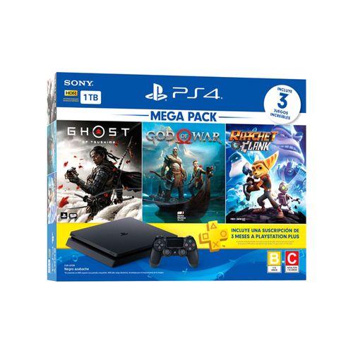 Playstation 4 1tb megapack 18 (r&c got gow bndl)
