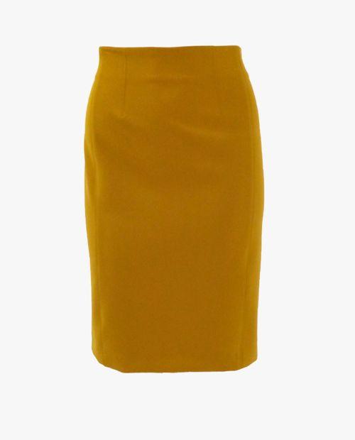 Falda básica mostaza