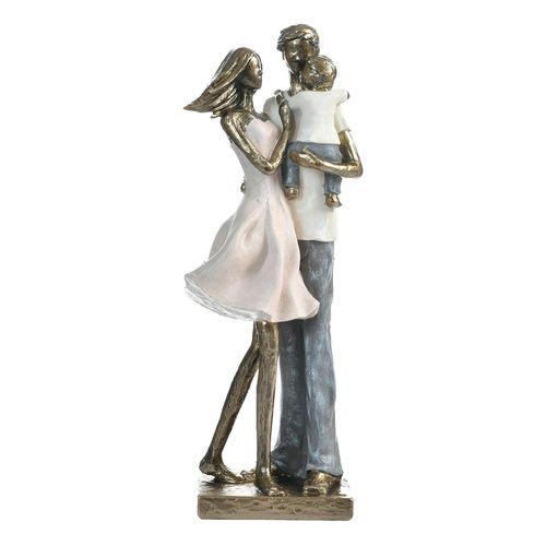 Figura familia decorativa - mahogany 11.5x9x32cm