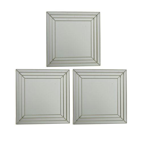 Juego de espejos 3pz -nirvana 25x25x2