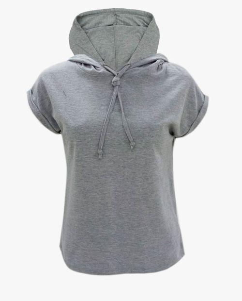 Camiseta manga corta dollman hood gris ht