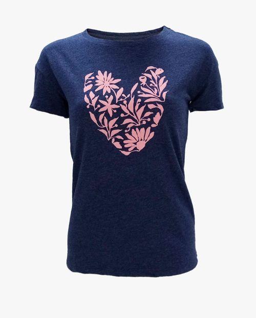 Camiseta prt flowers forming heart