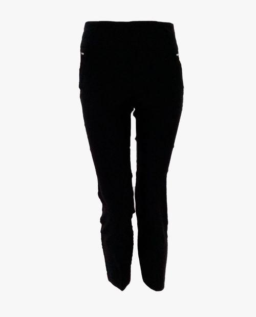 Pantalón vip deluxe sólido negro ankle