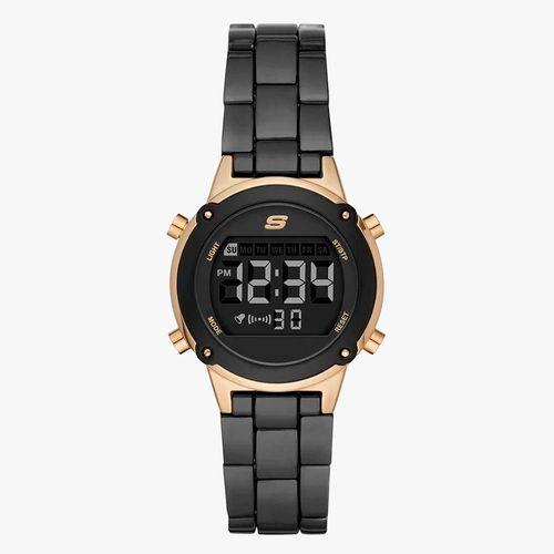 Reloj análogo metal negro dama