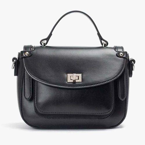 Cartera satchel piccadilly color negro para dama