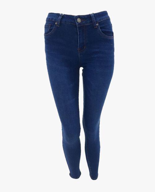 Jeans básico dark blue mid rise