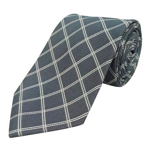 Corbata cuadros para caballero silver
