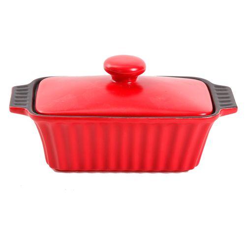 Molde para hornear 6.25  pulgadas rojo con tapa