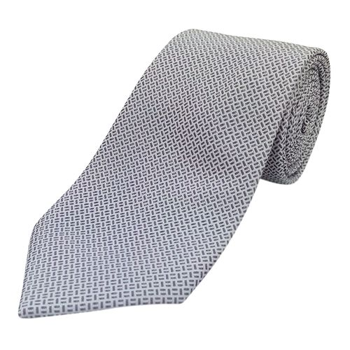 Corbata print para caballero silver