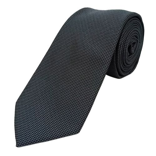 Corbata textura para caballero grey